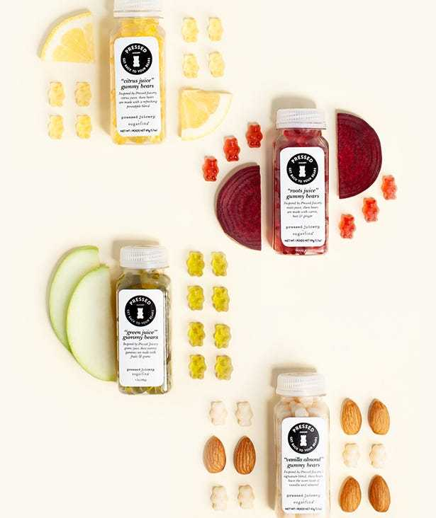 Pressed Juicery Collection with three new flavors of Citrus Juice, Roots Juice, Green Juice, and Vanilla Almond
